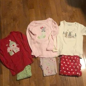 Baby Gap Christmas Pajama Bundle